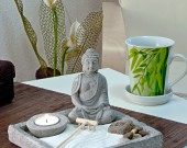 zen buddha on desk