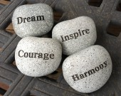 dream courage inspire harmony feng shui rocks